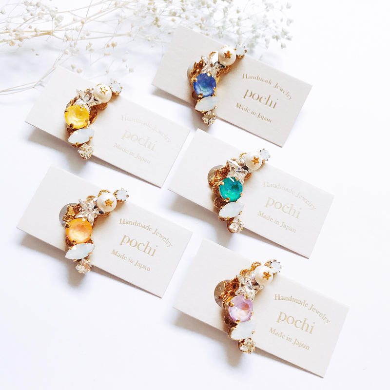 ★2020 S/S  New Color★SWAROVSKI®・Crystals BijouxEarcuff
