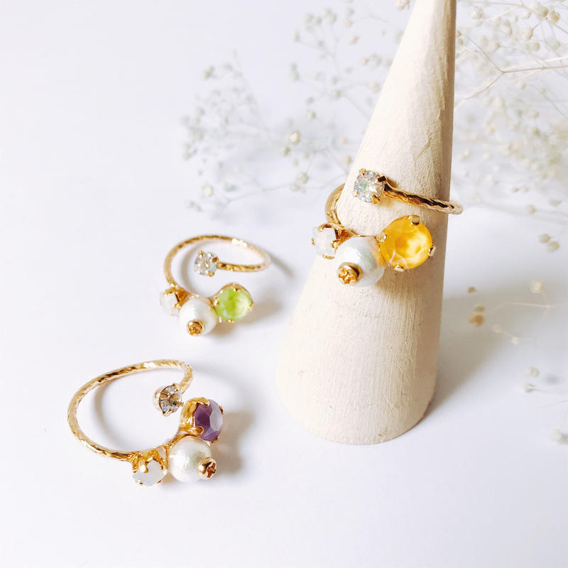 ★2019 S/S NEW COLOR★Petit Bijoux Ring