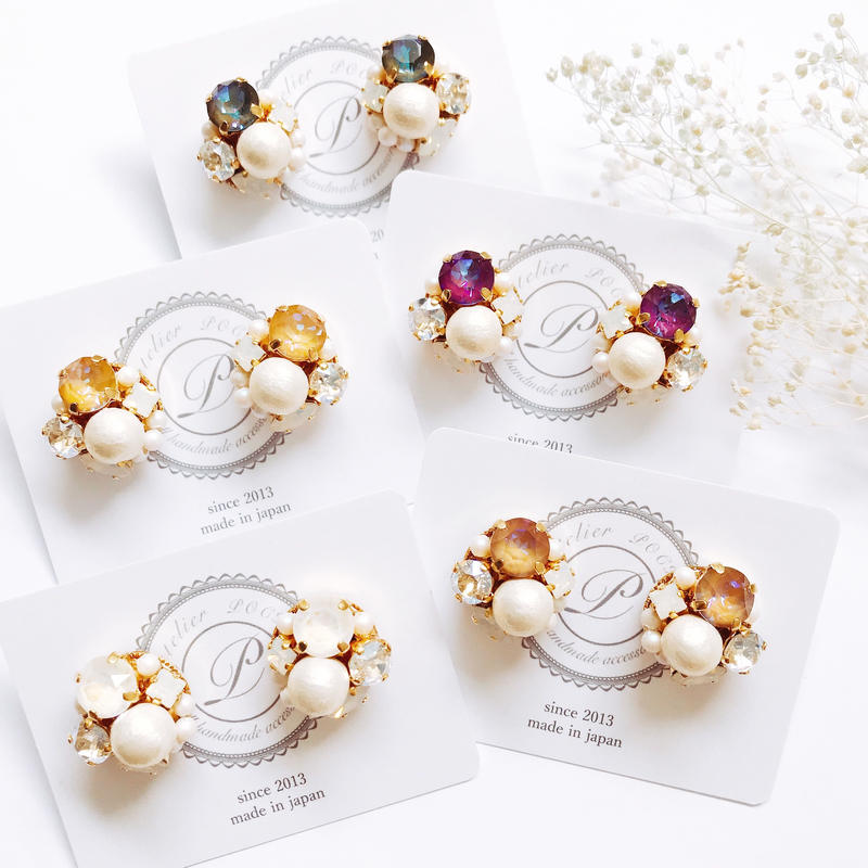 ★2019 A/W New Color★SWAROVSKI®・Crystals Bijoux Pierce -Round-