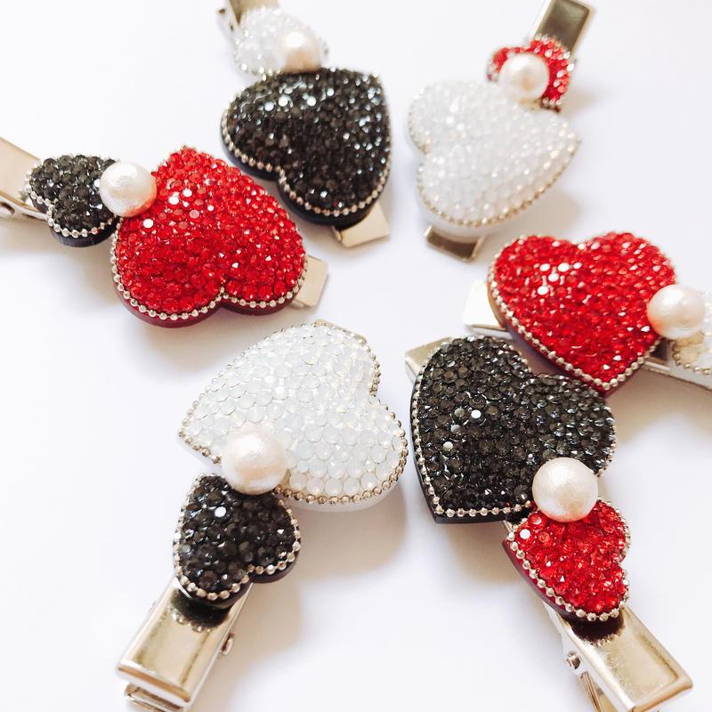 Bicolor Heart Clip