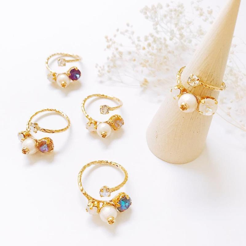 ★2019 A/W NEW COLOR★Petit Bijoux Ring