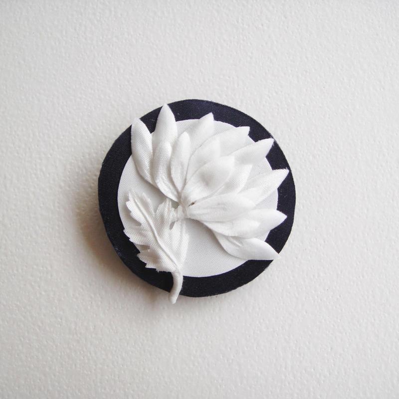 花紋 モノクロ