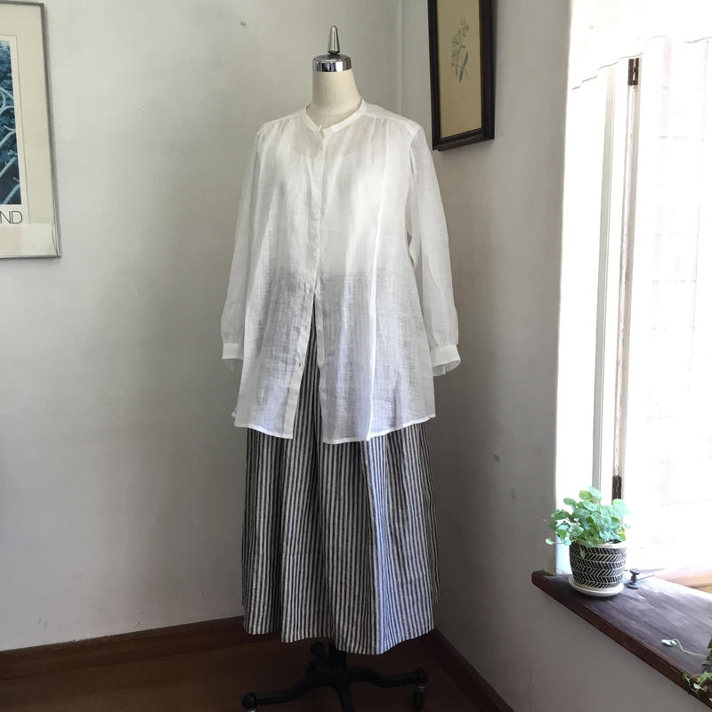 なでしこシャツ リネン   オフホワイト