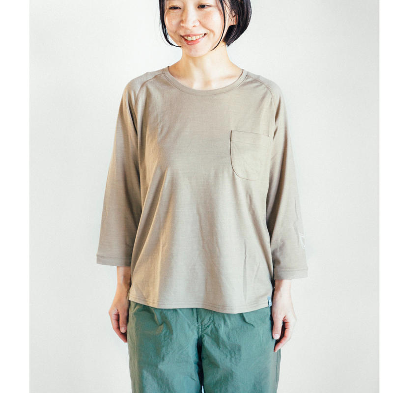 Hiker's T-shirt  (8sleeve) size:XS(レディスM)