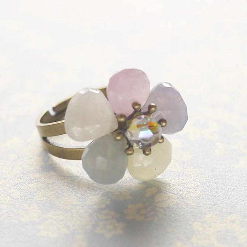 サファイアお花のリングo-2004