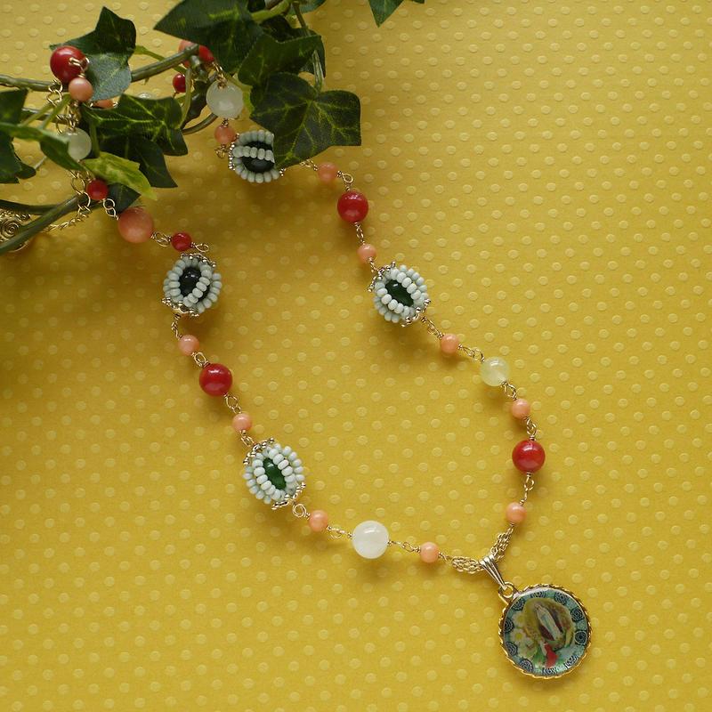 聖母マリアのネックレスn-2604