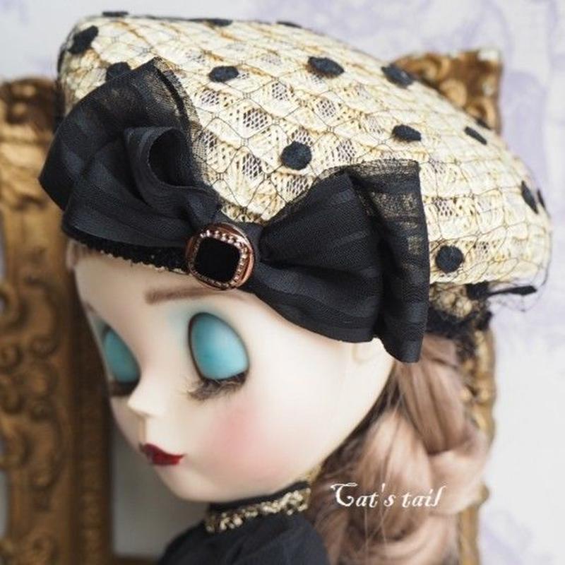 ドールサイズ・ブレードクラシカルベレー帽