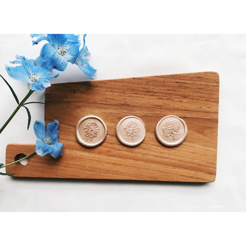 Wax Seals‖ Rose|シーリングスタンプ|ワックスシール(マーブルカラー) 10枚セット