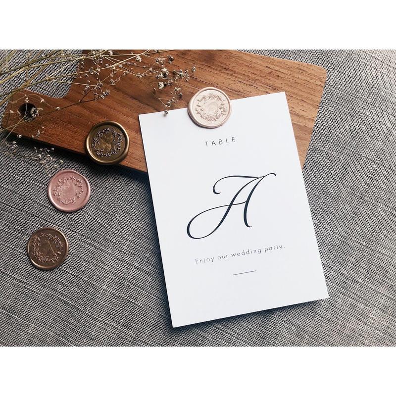 テーブルナンバー|カード 16枚セット