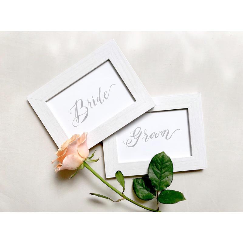 受付サイン|bride & groom | wedding card