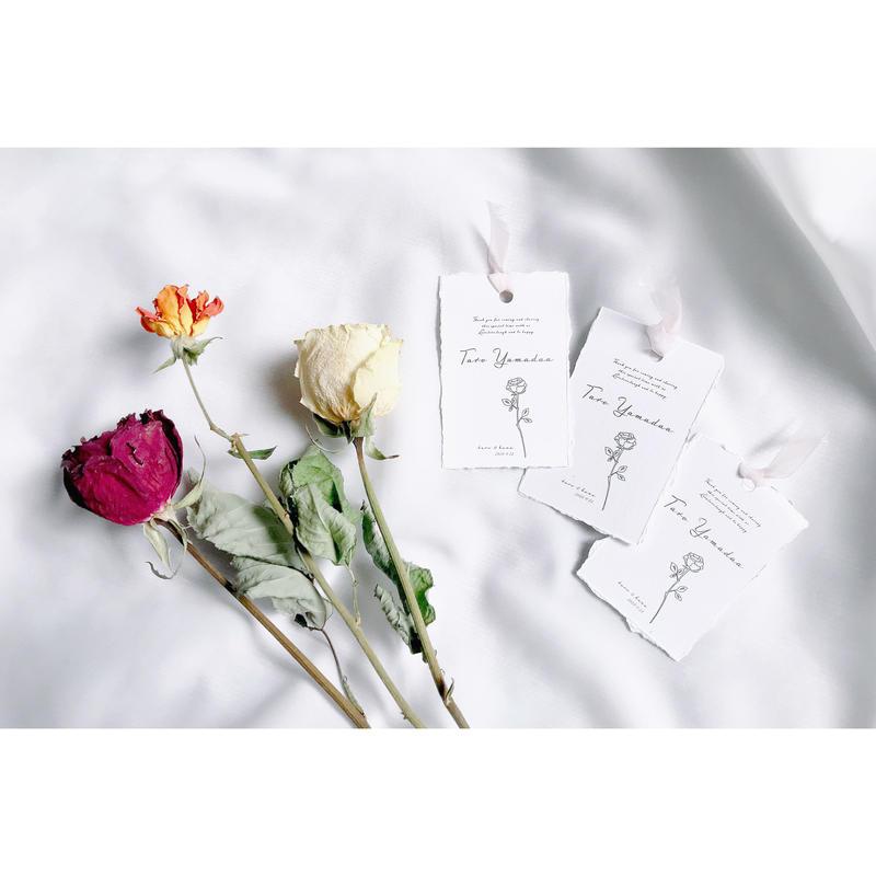 席札|エスコートカード‖edge paper  name card 10枚1セット