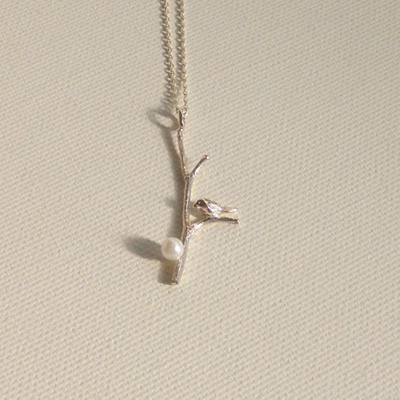 小鳥のネックレス K10