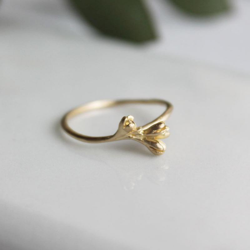 K18 オリーブの花のリング
