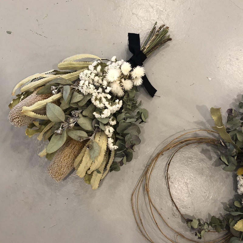 bouquet swag /  banksia