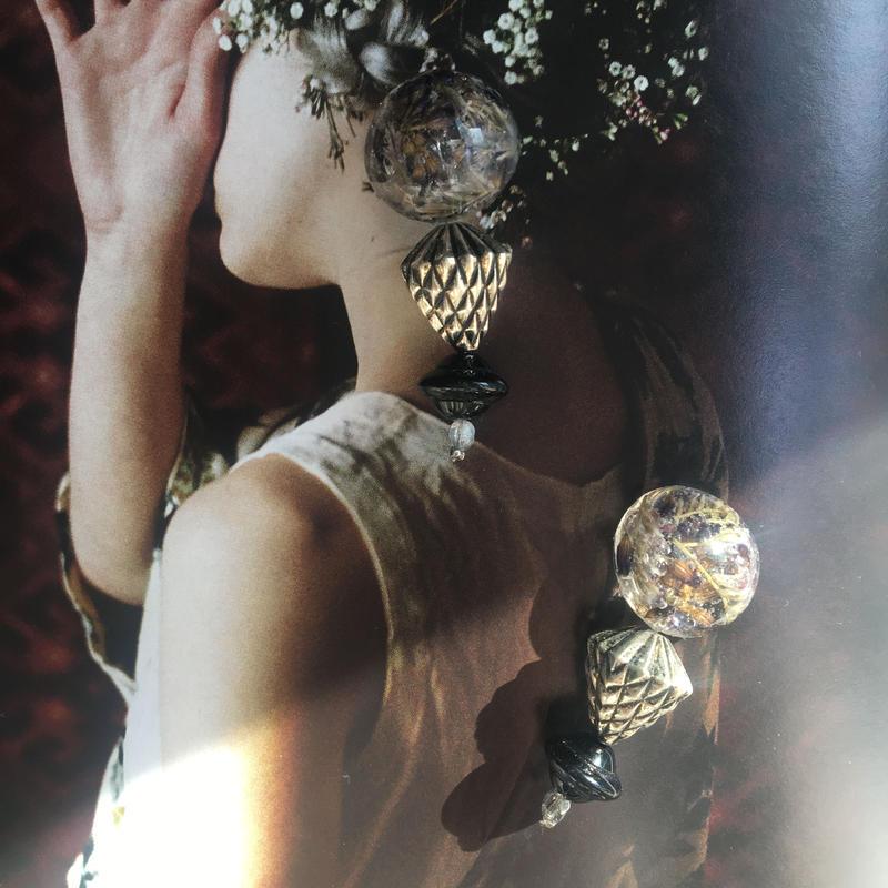 耳飾りWater flower =halfcube S 241 =