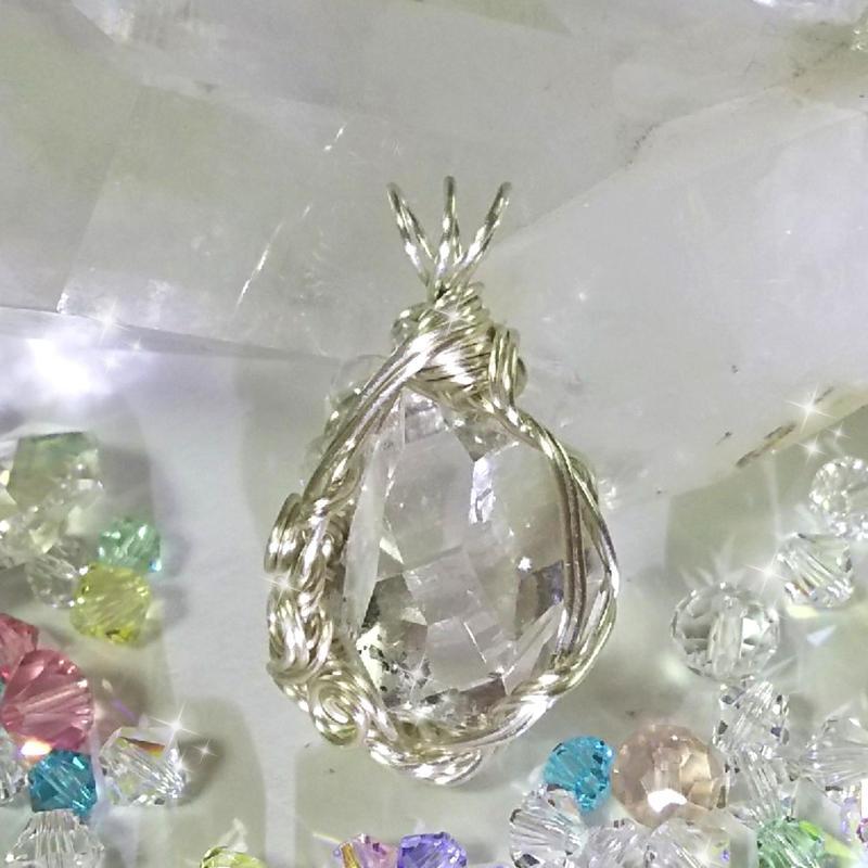 ハーキマーダイヤモンド ペンダントトップ