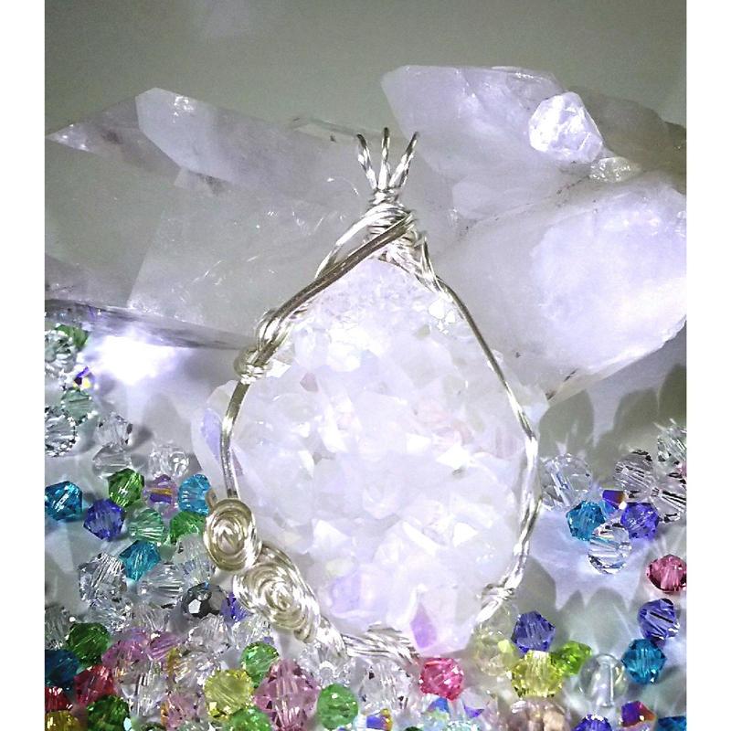 レインボー水晶 ペンダントトップ