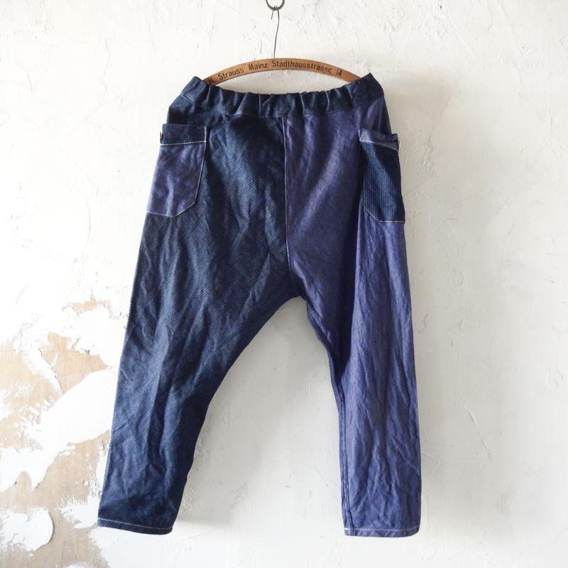 takuroh shirafuji Chao Phraya[Sarouel Pants(Soft Denim x Corduroy Denim) :  Women]