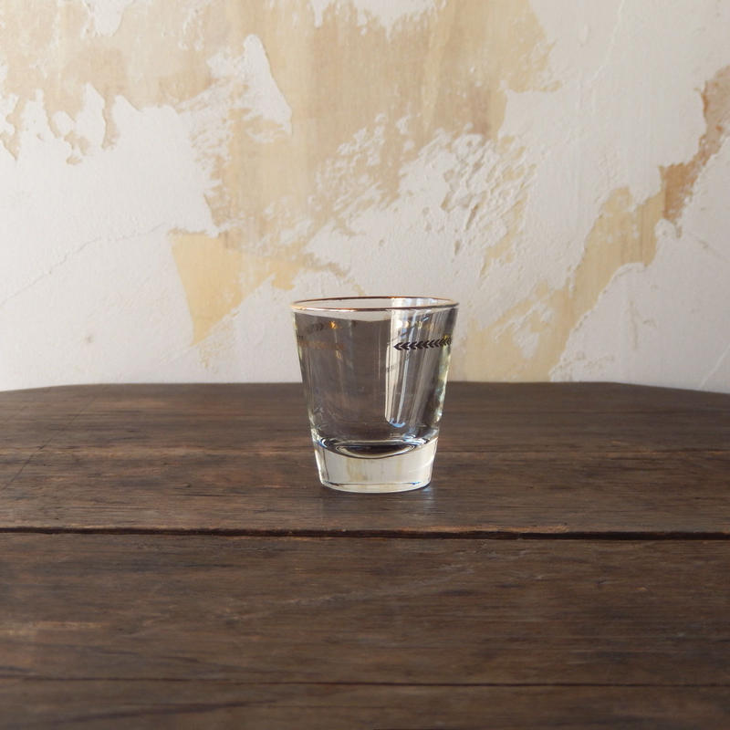 antiques アデリア 金月桂樹ショットグラス
