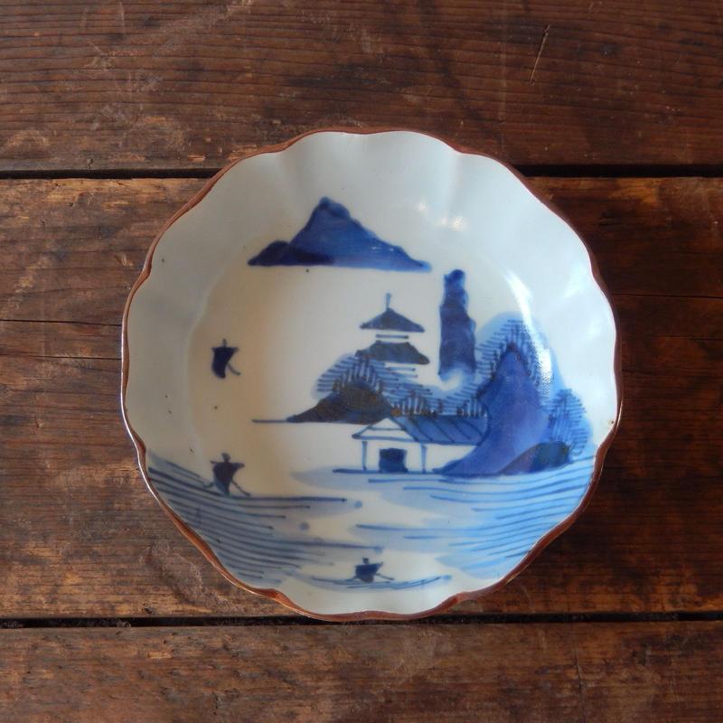 antiques   染付  なます皿