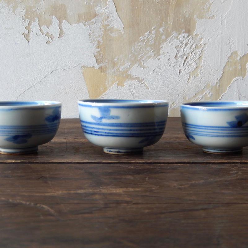 antiques 染付 煎茶碗