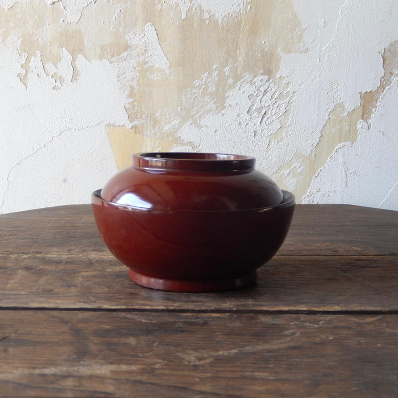 antiques 輪島塗 蓋つき椀