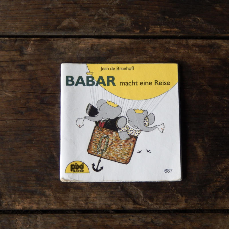 antiques 絵本 BABAR macht eine Reise from Germany