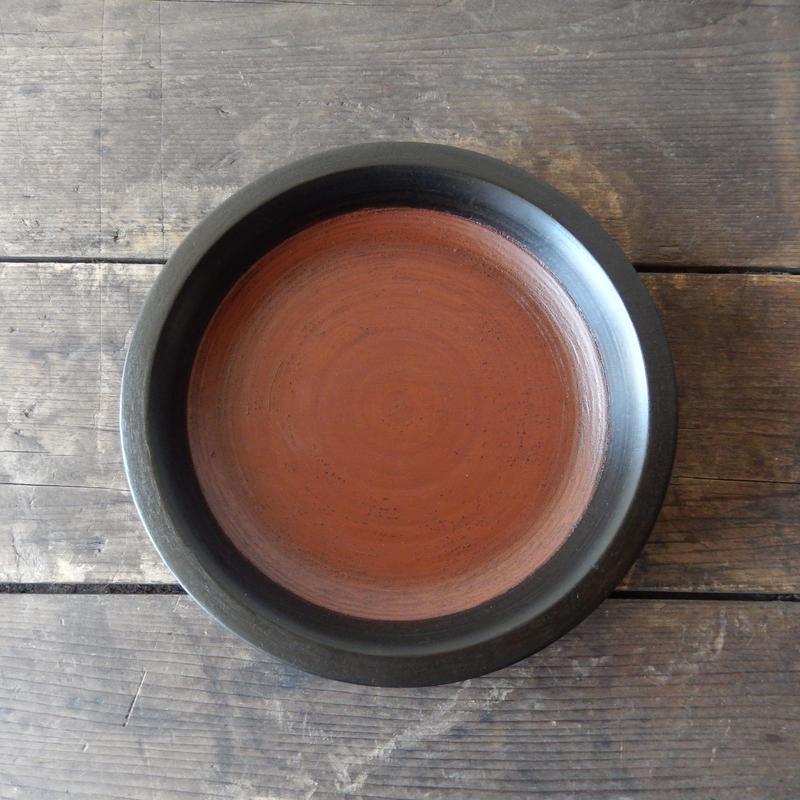 赤木明登 パン皿(日の丸)