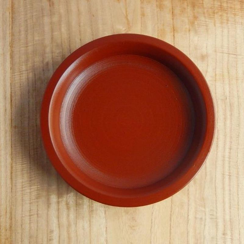 赤木明登 パン皿(赤)