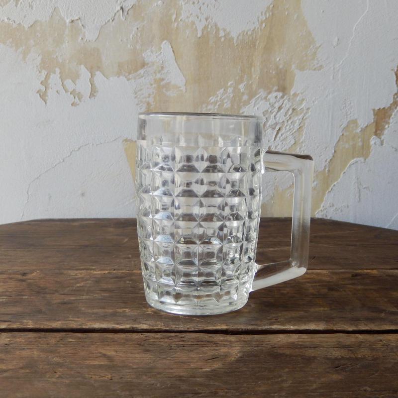antiques  ガラスのジョッキ
