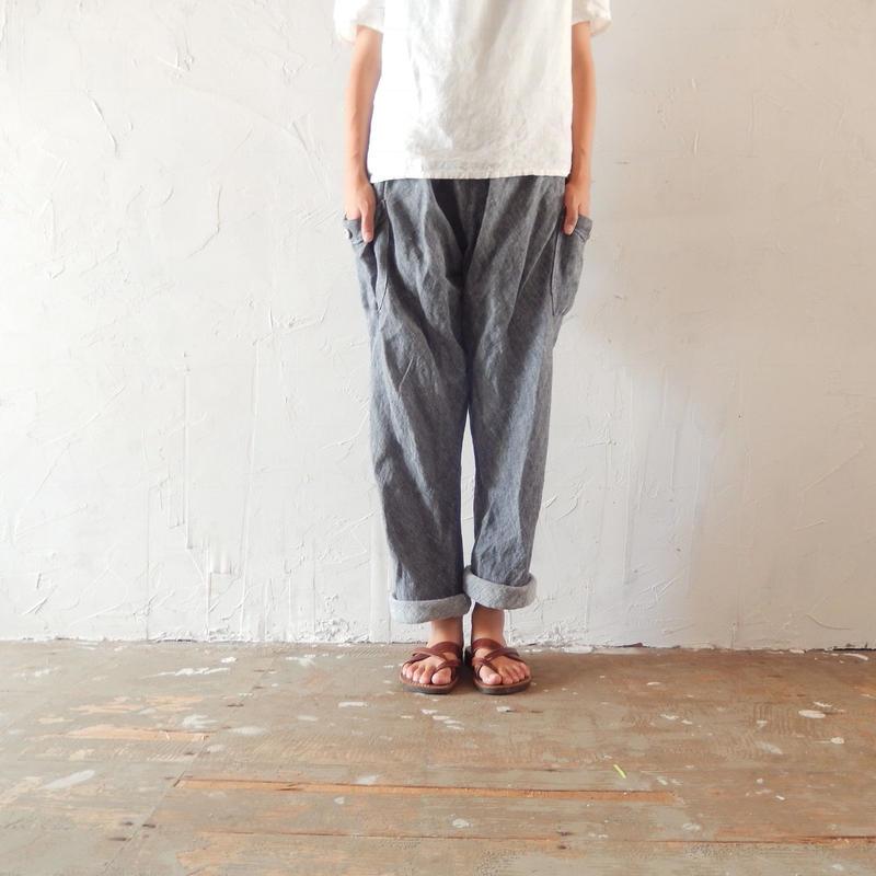 takuroh shirafuji Chao Phraya[Sarouel Pants(Denim Linen) :  Boys]