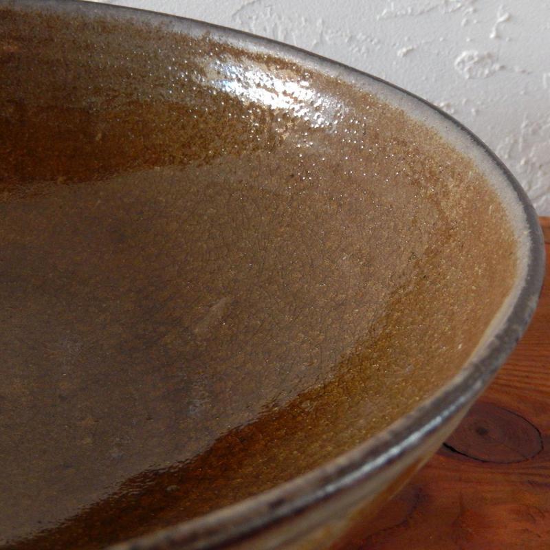 広川絵麻  8寸鉢(つや黄色)