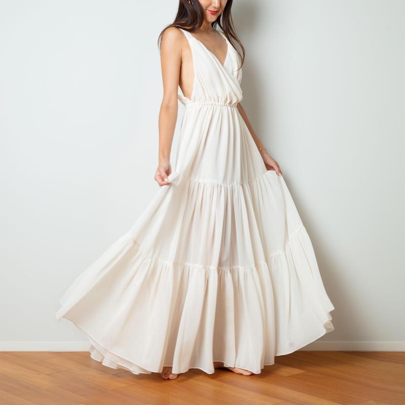 【Sea of Rose】DRESS - NATURAL WHITE