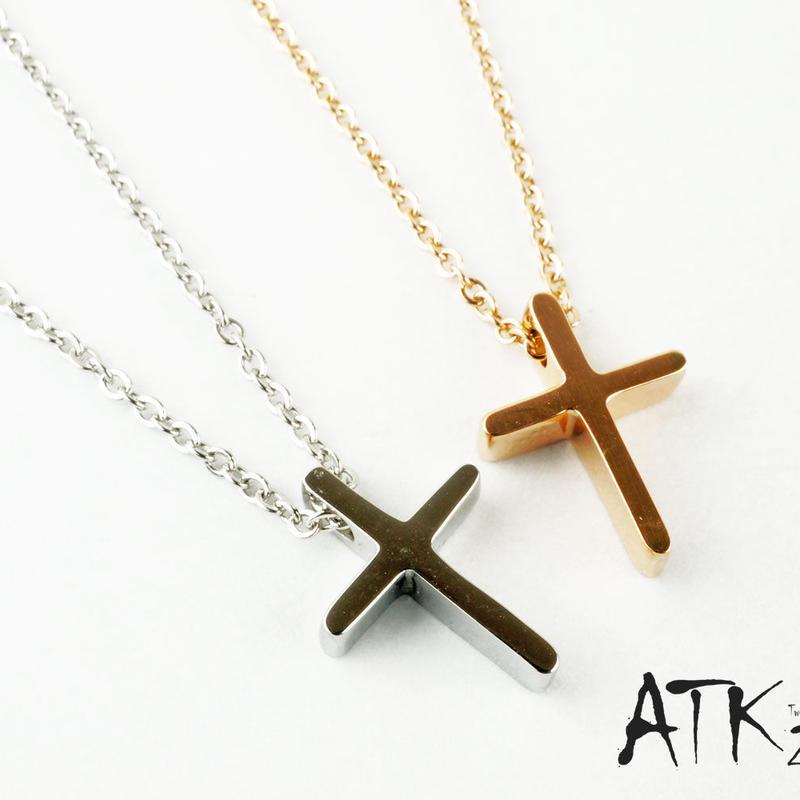 (BOX付ラッピング無料) クロス 十字架 サージカルステンレス316L キュービックジルコニア ネックレス ペンダント シルバー ピンクゴールド レディース おしゃれ アクセサリー