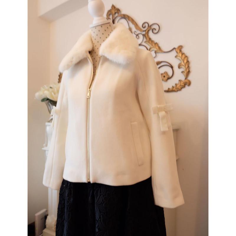 Akurarobe Fur  ホワイトミンクカラー ジャケット