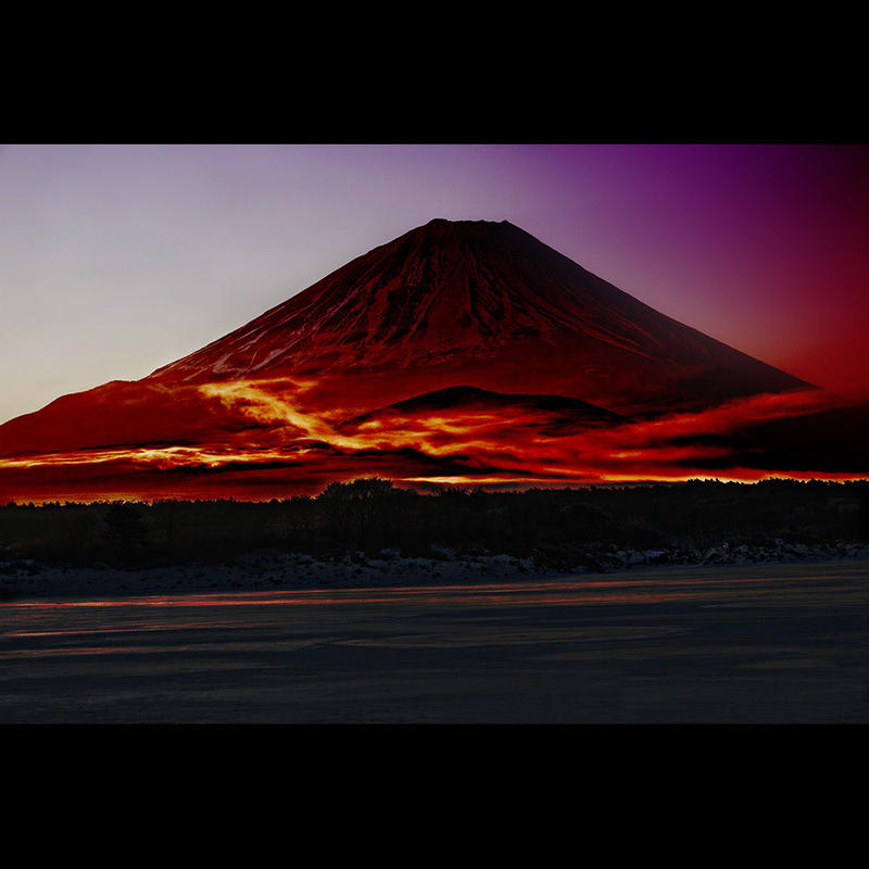 <フォトアクリル>「レッドドラゴンRedDragon」 (Mサイズ)