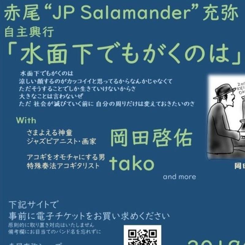 【9月21日】赤尾自主興行「水面下でもがくのは」Bチケット(食事有り)