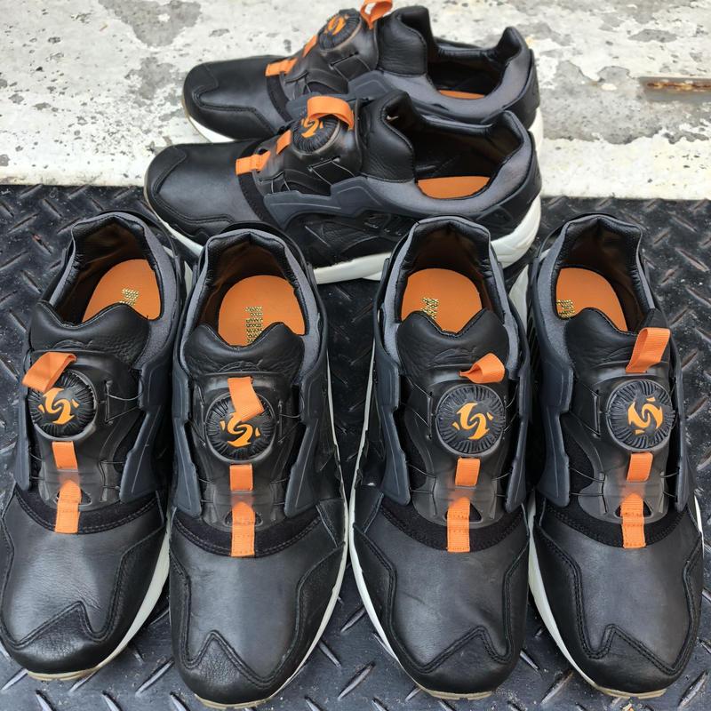 PUMA DISC LEATHER (Black/Orange)