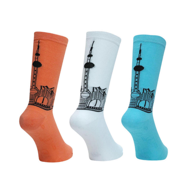 GanaG Socks City Socks (FLAMINGO, WHITE, TURQUISE)