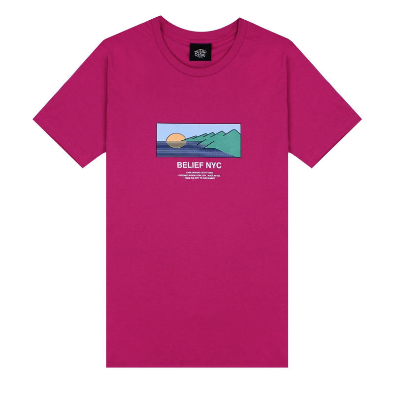 Belief Horizon Tee (Berry)