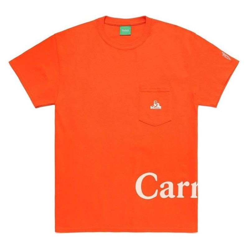 Carrots × Jungles  LOGO POCKET T-SHIRT (ORANGE)