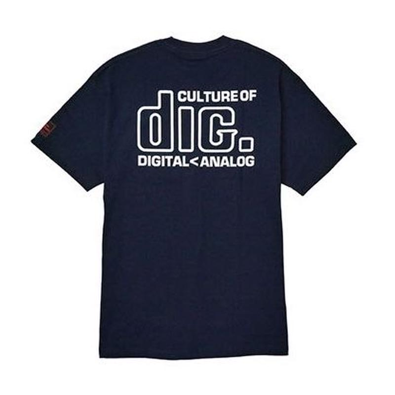 DISKUNION X INTERBREED CULTURE LOVERS TEE (NAVY)