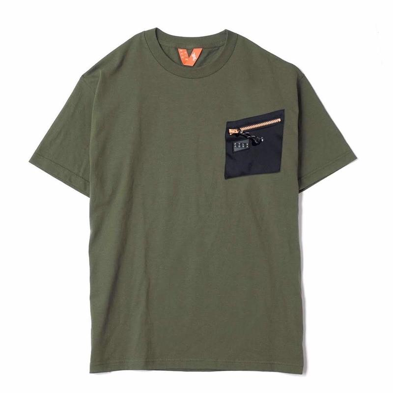 FTLXAQUA Aqua Pocket2 Tee (black teal, grey blue, army, coral pink, purple neon)