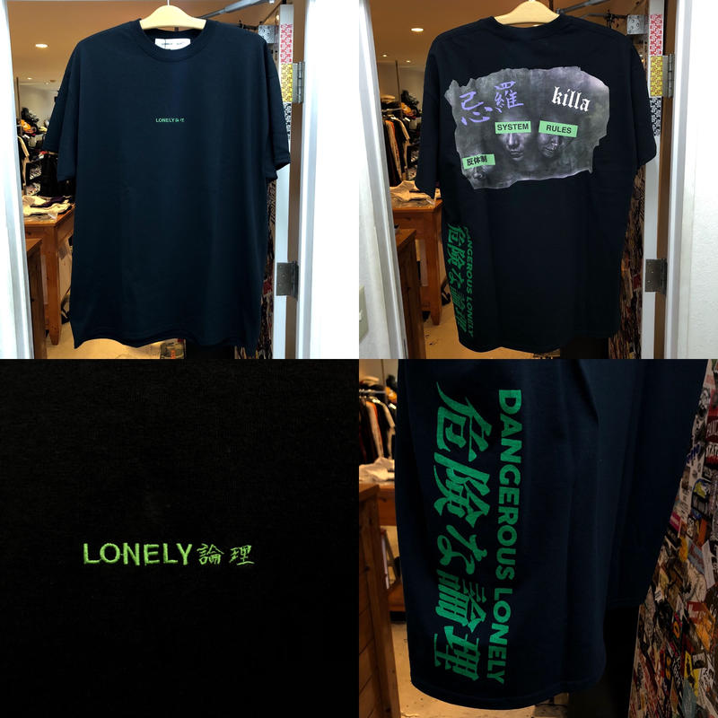 LONELY論理 SUGIMOTO RESPECT 2 TEE (BLACK,WHITE)
