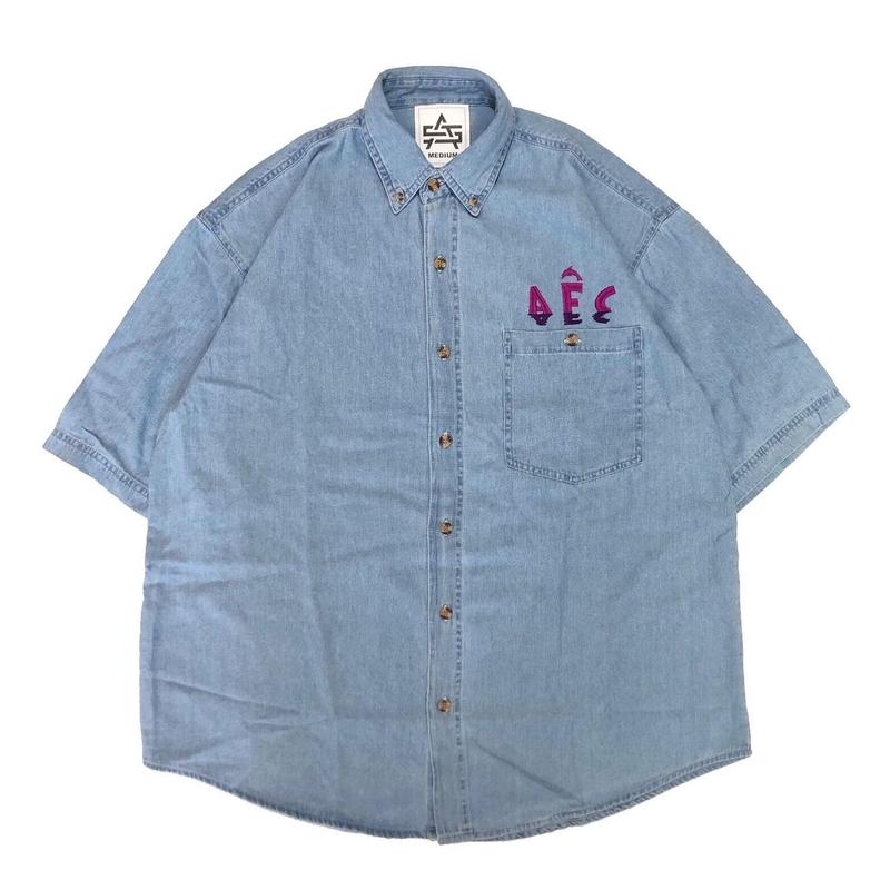 AFC DOLPHIN WATCHER DENIM SHIRT (LIGHT BLUE)