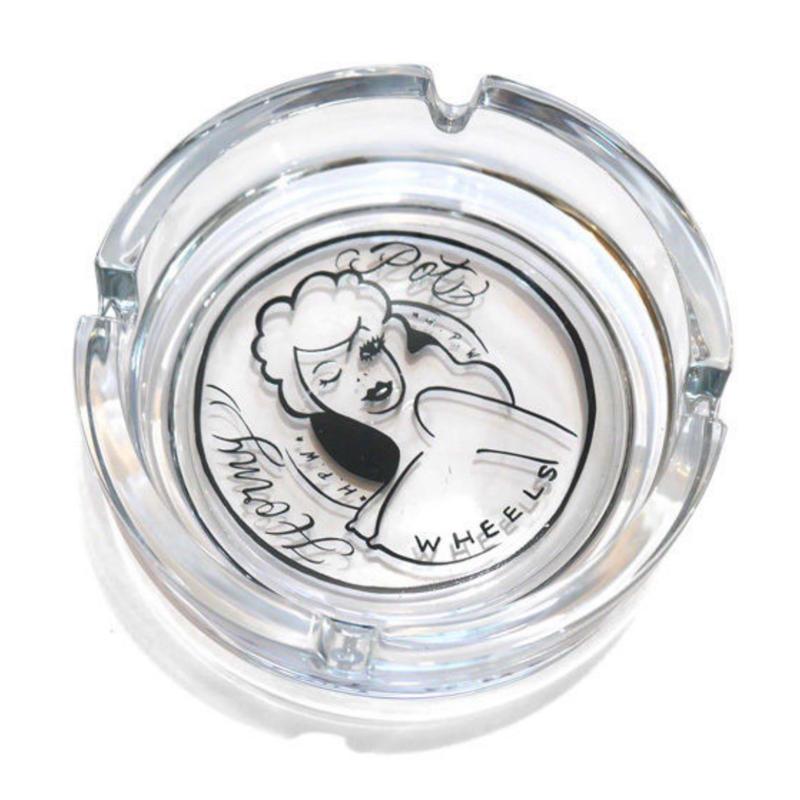 HAIGHT HONEY POT GLASS ASHTRAY ft 4D7S (CLEAR)