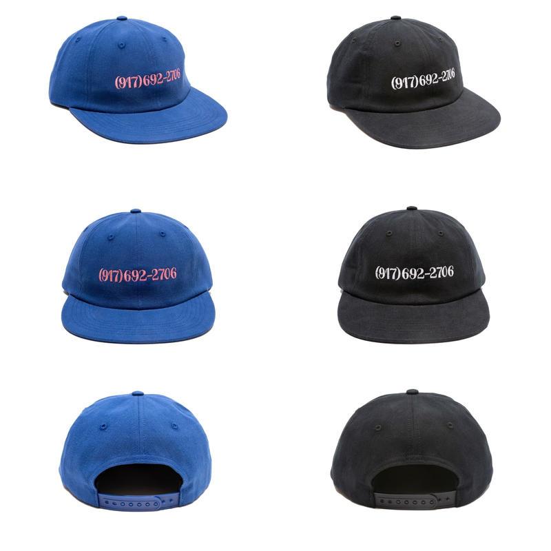 CALL ME 917 DIALTONE HAT (BLUE, BLACK)