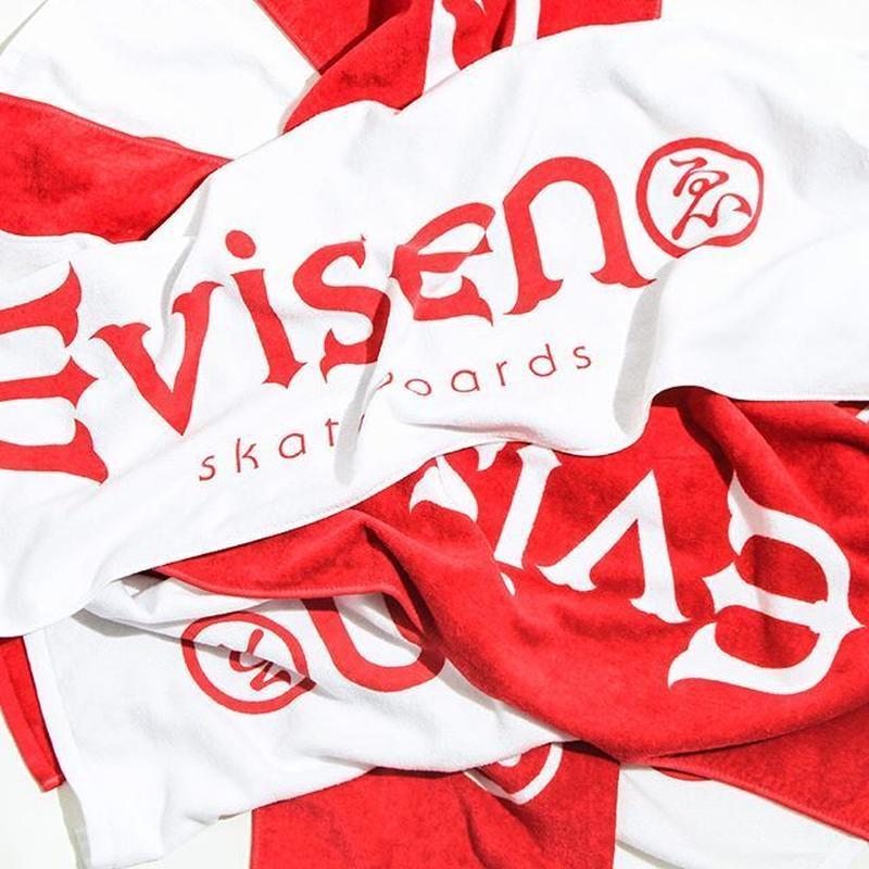 Evisen Skateboardsゑ Evi LOGO TOWEL (WHITE, RED)
