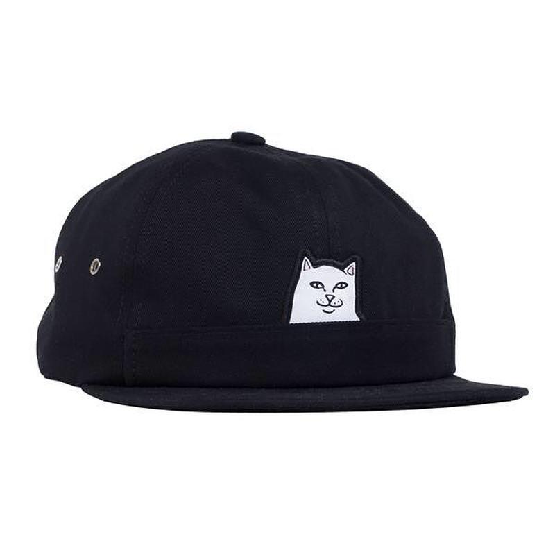 RIPNDIP LORD NERMAL 6 PANEL POCKET HAT (BLACK)