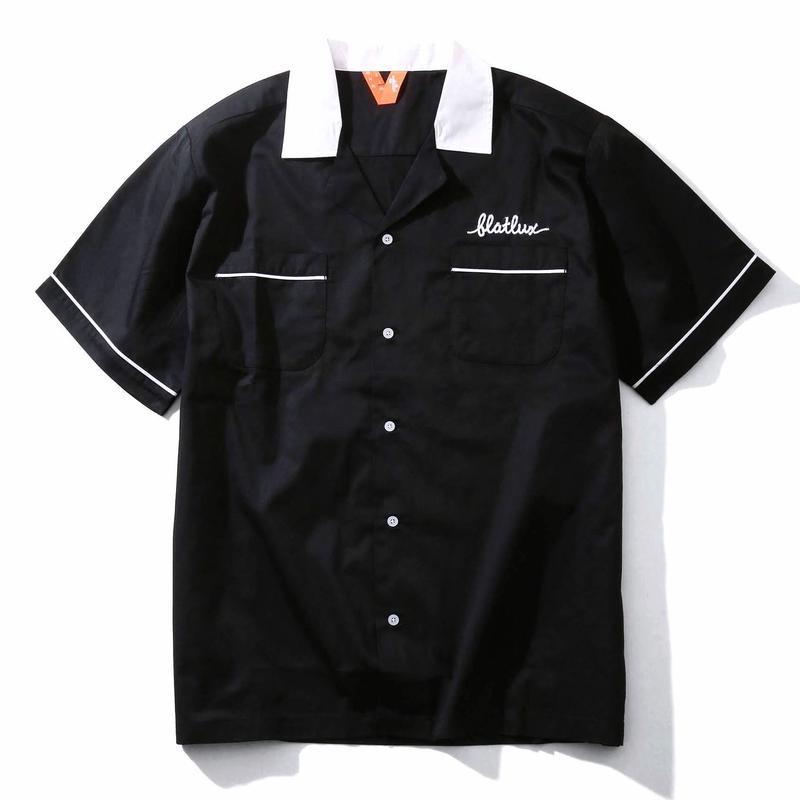 FLATLUX Reaper Bowling Shirt (black/gold/black/white, grey)